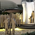 "Raffles Singapore's Light Installation at i Light Marina Bay 2018 ""Urban Rice Field"""