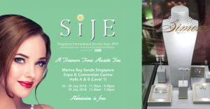 Shinning with Simone Jewellery at Singapore International Jewellery Expo 2018