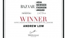 Raffles Fashion Designer Andrew LOW Wins Prestigious Harper's Bazaar Asia New Generation Fashion Award 2018 - Singapore