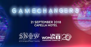 Raffles Designers support UNWomen Singapore's SNOW Gala 2018
