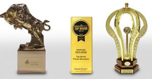 Raffles Education bagged Super Golden Bull Award, Influential Brands Award & International Quality Crown Award in 2018